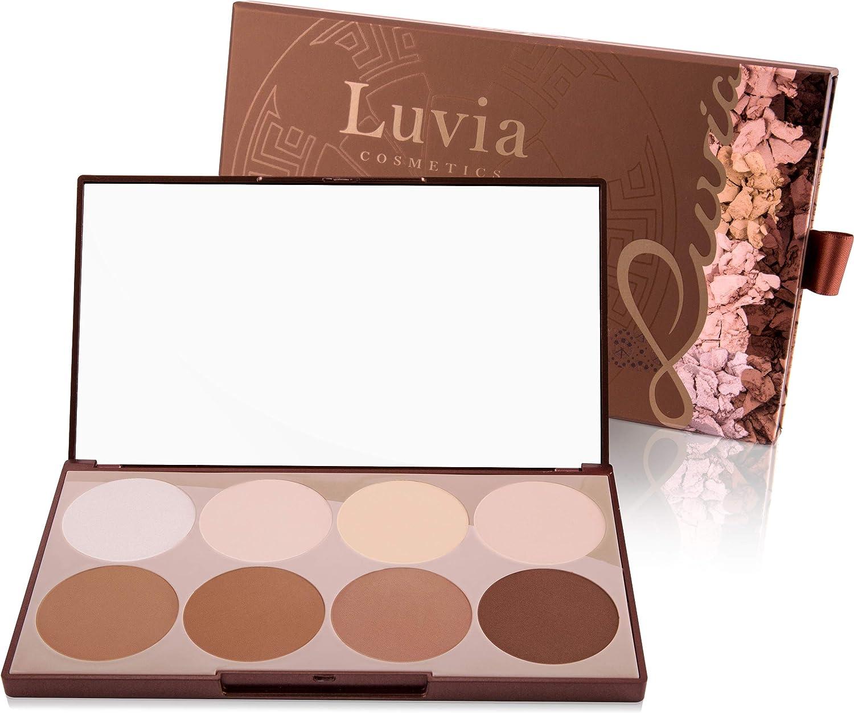Luvia Cosmetics - Contouring Palette - Prime Contour Mit Extra Leicht Verblendbarem Setting Powder, Bronzer, Kontur Puder Und Highlighter Make-Up Für Jeden Hauttyp