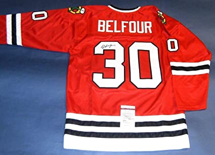 Signed Ed Belfour Jersey - JSA Certified - Autographed NHL Jerseys ... d0f91a1f0