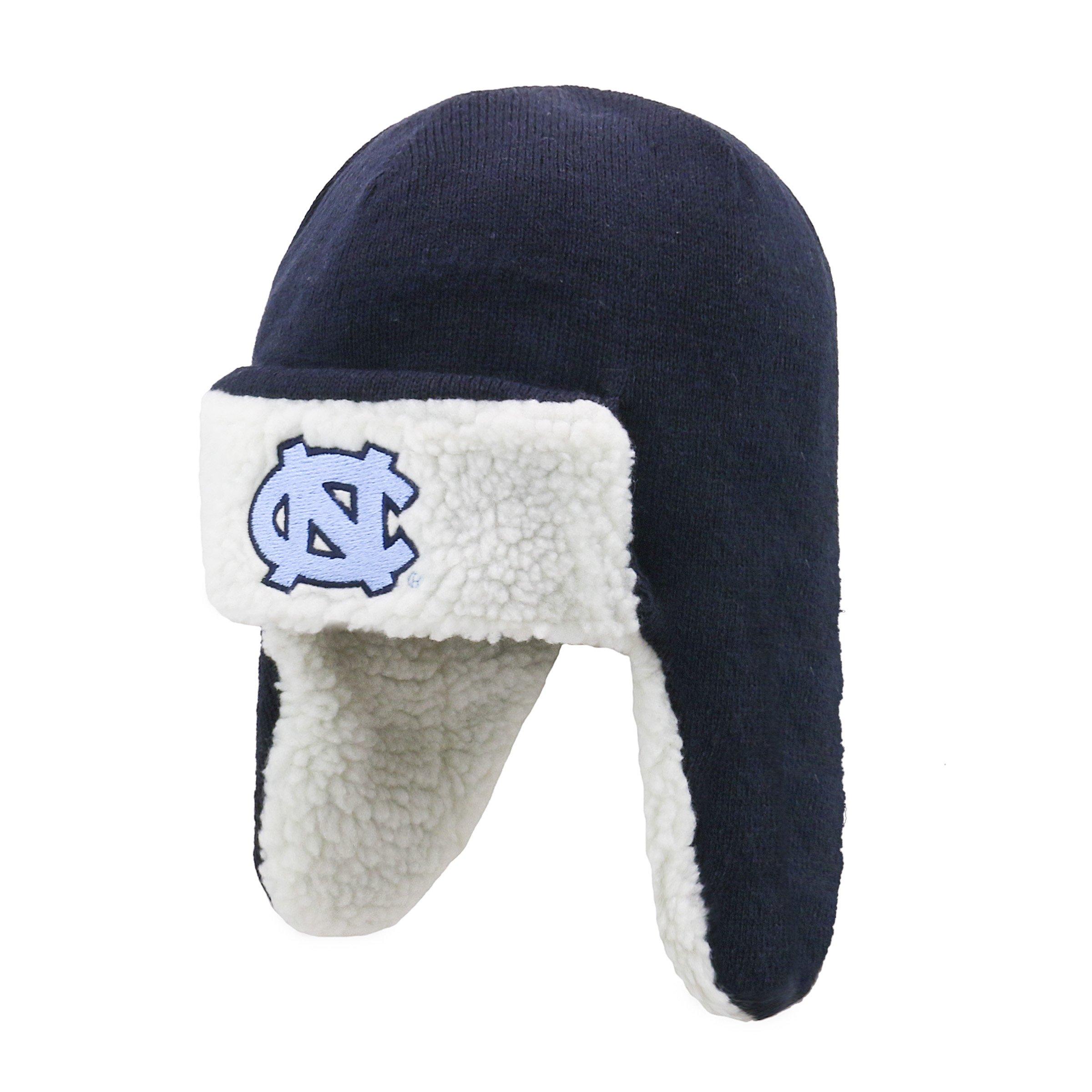 NCAA Men's North Carolina Tar Heels OTS Breck Sherpa Hunter Knit Cap, One Size, Team Color by OTS