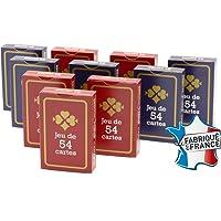 FRANCE CARTES - Jeu de 54 Cartes - Gauloise Bleue et Rouge - Lot de 10