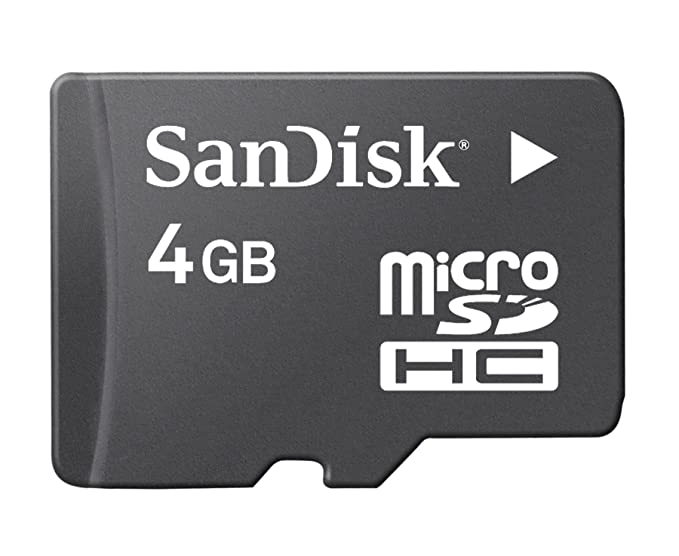 Sandisk 4GB MicroSDHC Memory Card with SD Adapter