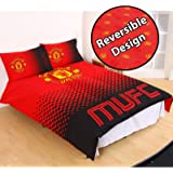 Manchester United FC Fade Double/US Full Duvet Cover and Pillowcase Set