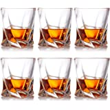 Farielyn-X Crystal Whiskey Glasses, Set of 6 Scotch Glasses, Tumblers for Drinking Bourbon, Scotch, Cocktail, Cognac…