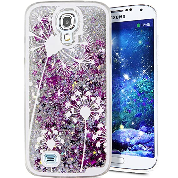 uk availability 77858 8892a Galaxy S4 Cover Samsung Galaxy S4 Cover for Girls EMAXELER 3D Creative  Design Angel Girl Flowing Liquid Floating Bling Shiny Liquid PC Hard Cover  for ...