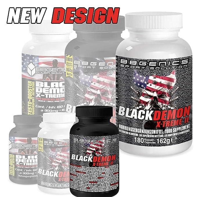 BBGenics, BlackDemon X-Treme II, T-Booster, maca de calidad, arginina, Tribulus, zinc, hierro, cromo, vitamina B2, B6, C,360 cápsulas: Amazon.es: Salud y ...