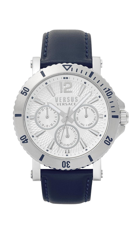 Versus by Versace Reloj Analogico para Hombre de Cuarzo con Correa en Cuero VSP520118