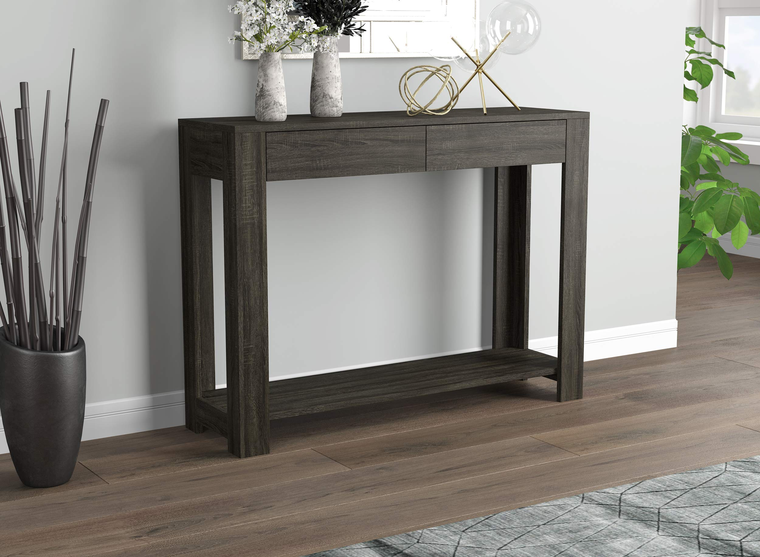 Safdie & Co. Table-40 Grey with 2 Drawers Console Table, Gray by Safdie & Co.
