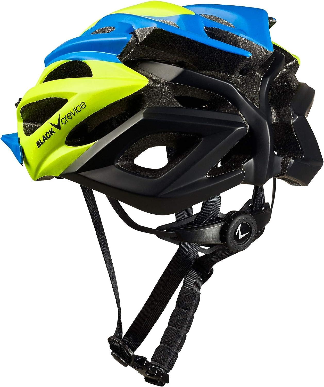 Amarillo y Negro Black Crevice Unisex Casco de Bicicleta para Adultos Color Azul