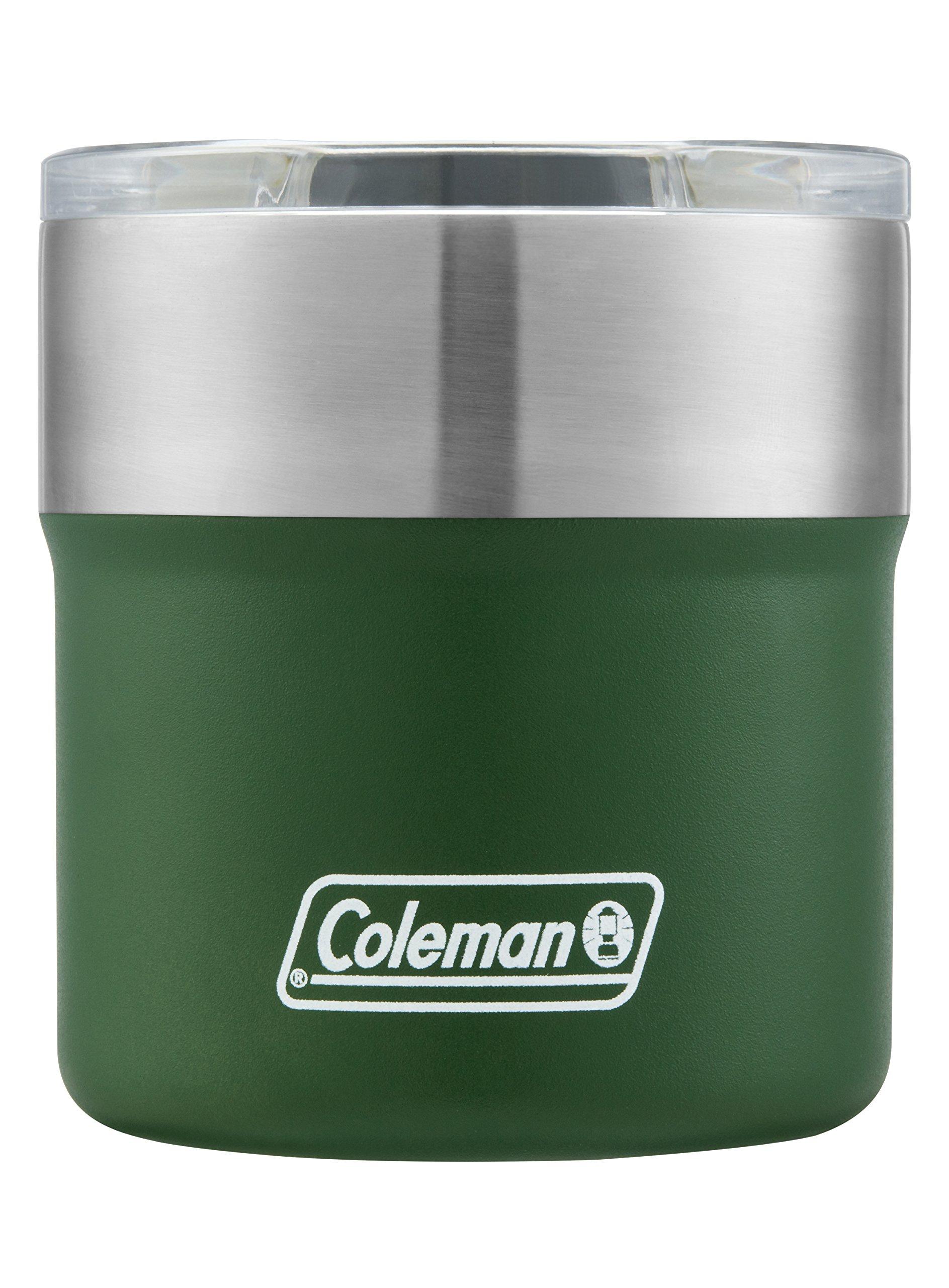 Coleman Sundowner Insulated Stainless Steel Rocks Glass, Heritage Green, 13 oz.