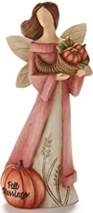 The Lakeside Collection Harvest Blessing Angel with Seasonal Icon and Sentiment - Fall Blessings