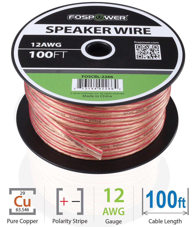 FosPower HiFi Lautsprecherkabel transparent 12AWG: Amazon.de ...