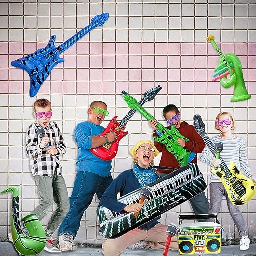 El juego de juguetes de guitarra de rock inflable incluye un ...