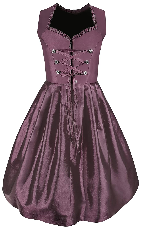 Lisa Traditional Dress in Violet and lace Dirndl Apron for Oktoberfest Carnival Exclusive Dirndl 2 pcs