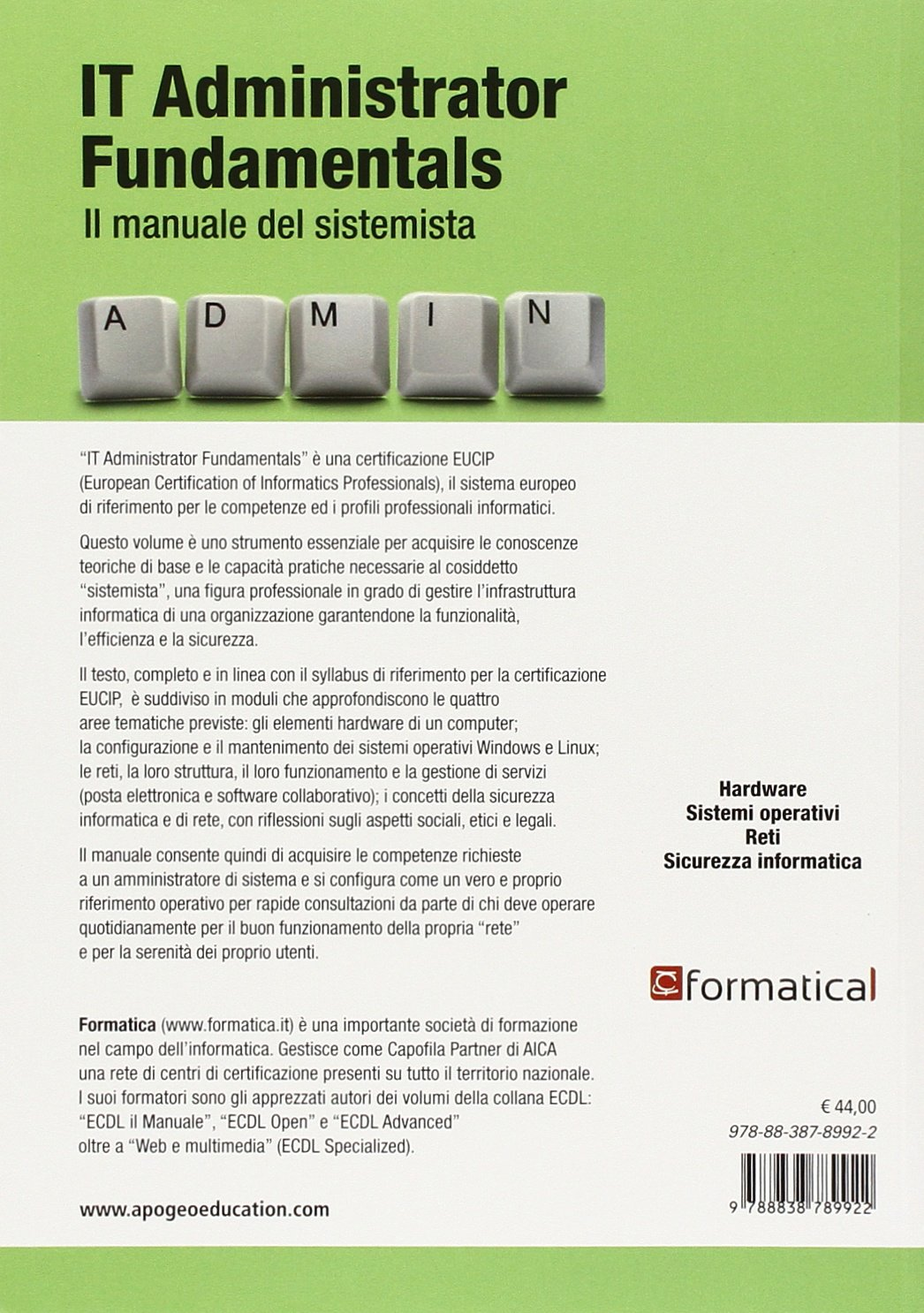 amazon it it administrator fundamentals il manuale del amazon it it administrator fundamentals il manuale del sistemista formatica maggioli editore libri