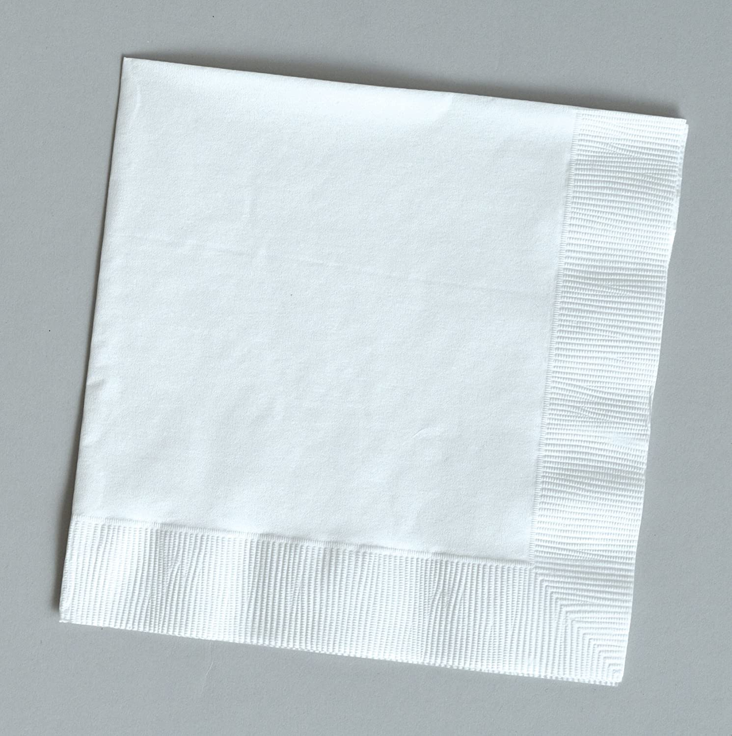 2ply disposable 100 gorgeous White beverage//cocktail napkins for wedding//party//event 5x5 by Touch of Color