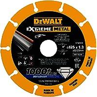 Dewalt Extreme metalen diamantdoorslijpschijf (125 mm Ø, 1,3 mm dikte, voor een groot aantal materialen zoals staal…