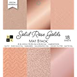 """DCWVE DCWV Specialty Stack-6 x 6-Single-Sided Foil and Glitter-18 Seat PS-006-00132, 6"""" x 6"""", Solid Rose Golds, 6 Designs/3 E"""