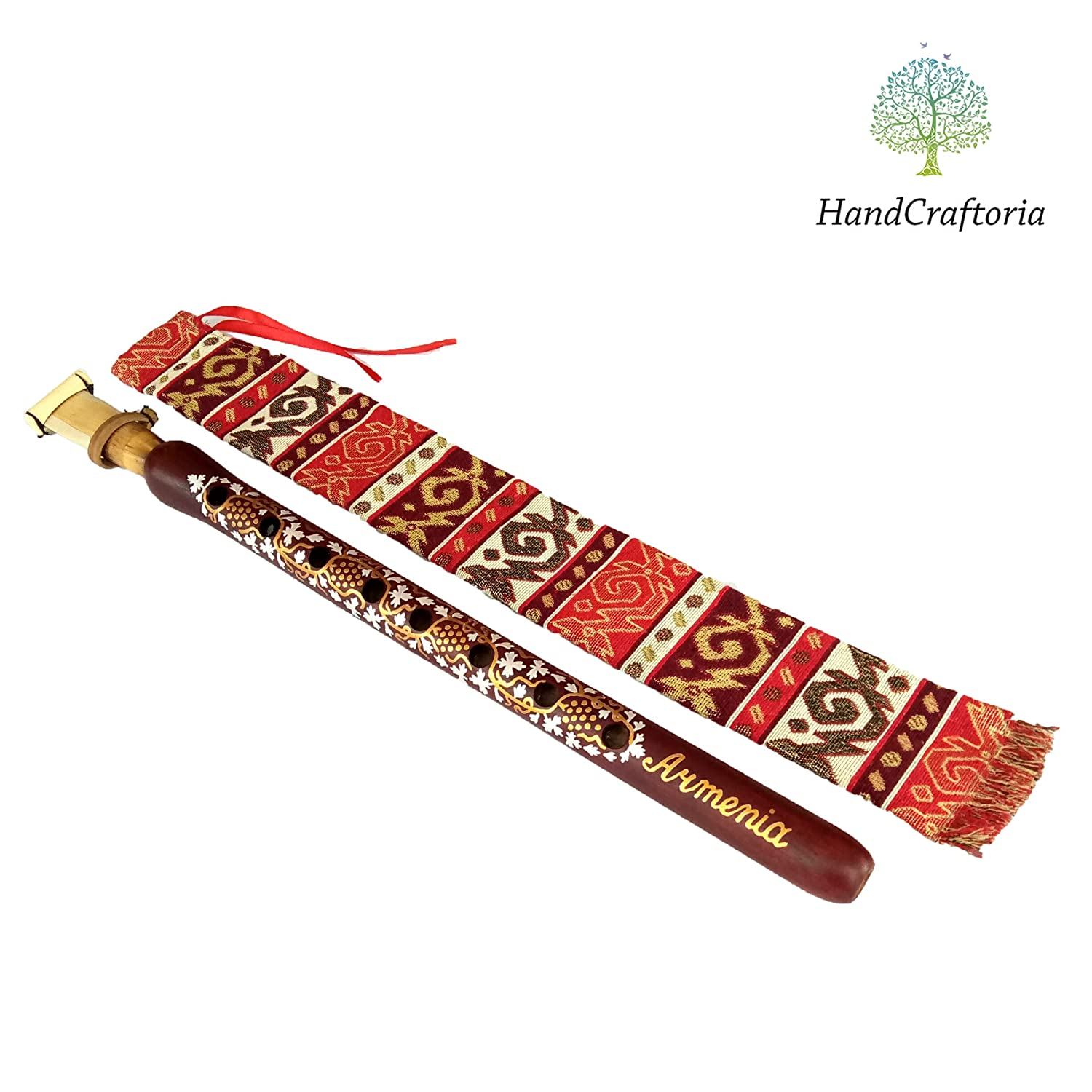 Armenian DUDUK Apricot Wood Armenian Oboe Balaban Professional Woodwind Instrument for intemediate skill level - Grapes style - free Gift national case with Playing Instruction
