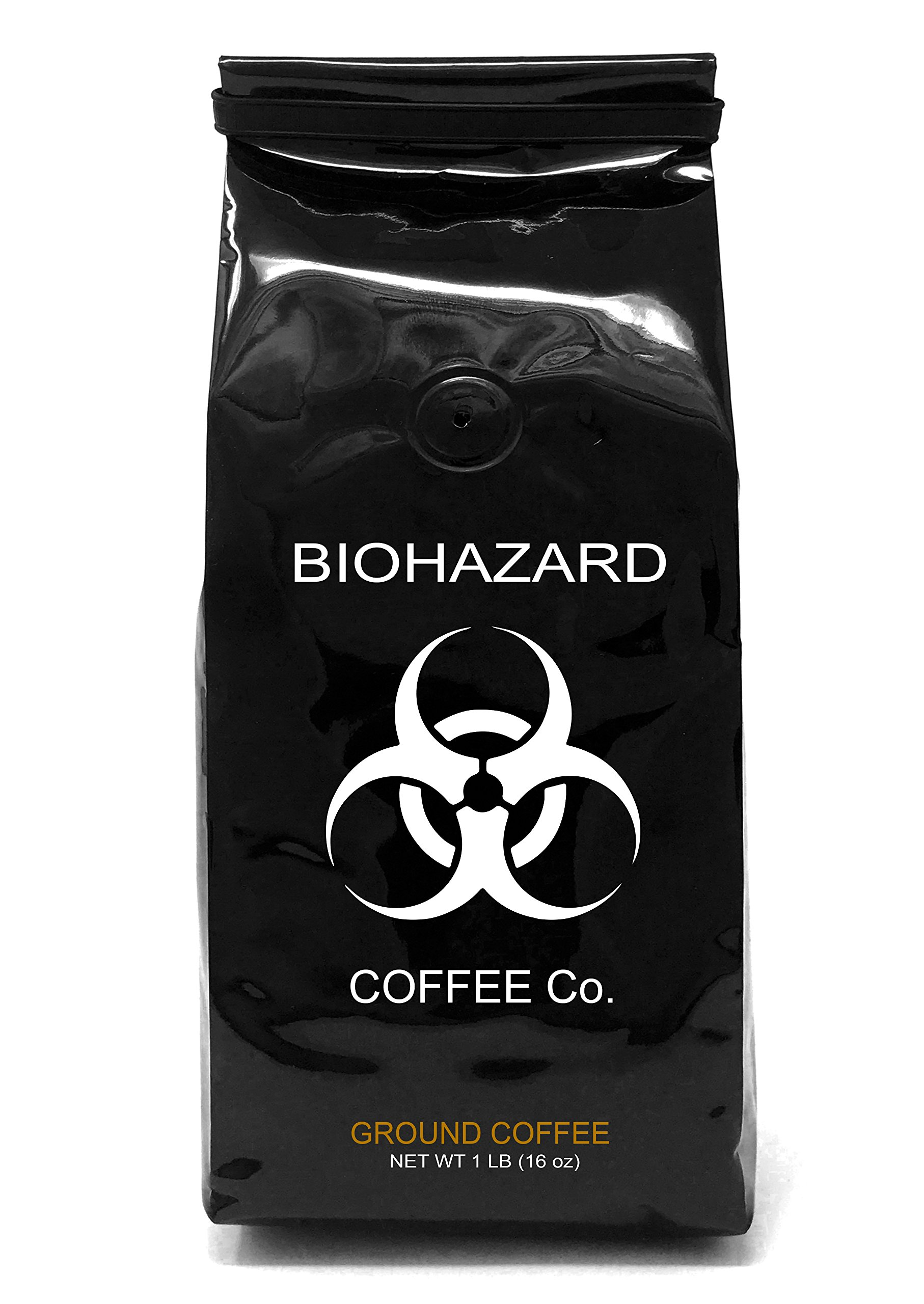 Biohazard Ground Coffee, The World's Strongest Coffee 928 mg Caffeine (1 LB)