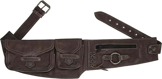 Utility Belt Leather Fanny Bag Leather Hip Pouch Festival Belt Bag Holster Bag Leather Hip Bag Leather Utility Belt Leather Waist Bag