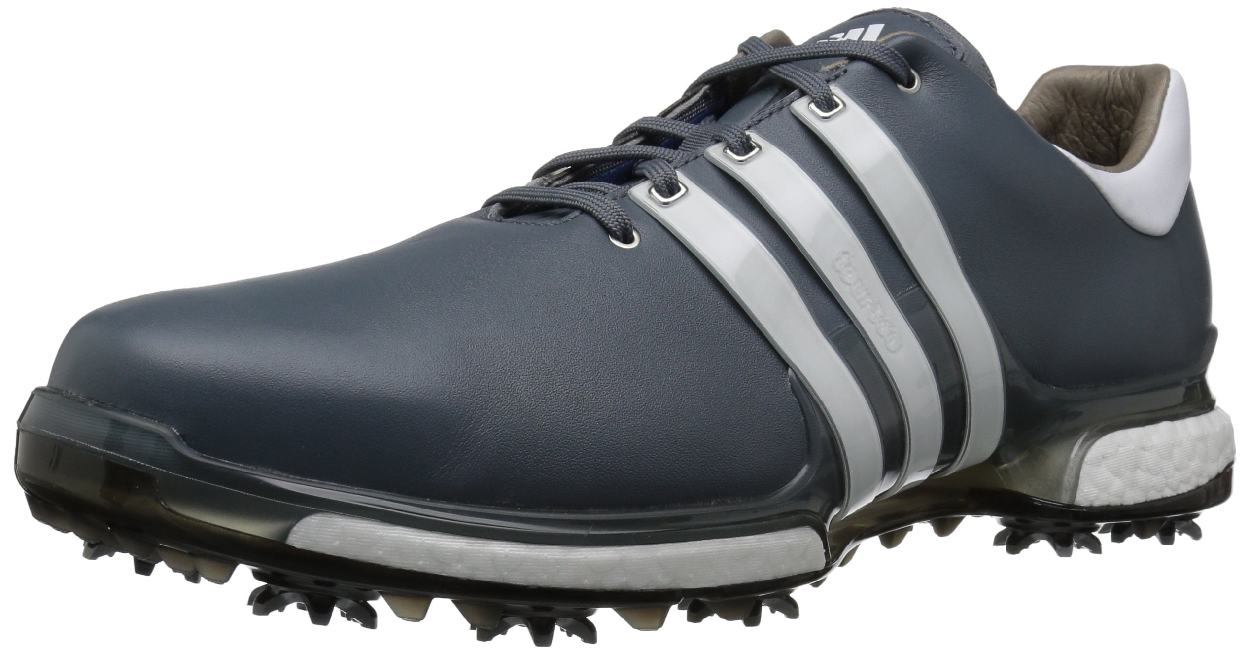 adidas Men's TOUR 360 2.0 Golf Shoe, Onix/White/Black, 7.5 M US