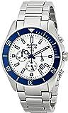 Bulova Men's 98B204 White Stainless Steel Watch with Link Bracelet