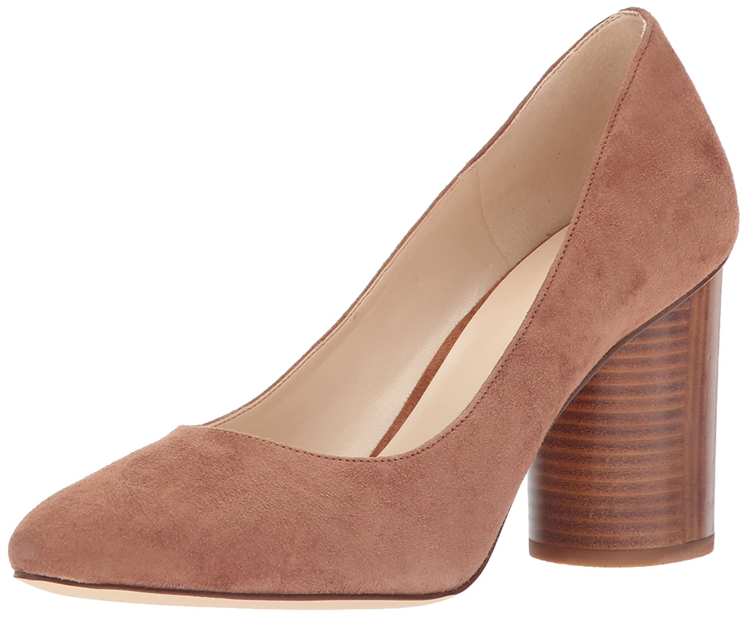 Nine West Women's Cardya Leather Pump B06X3VH21T 9 B(M) US|Dark Natural Suede