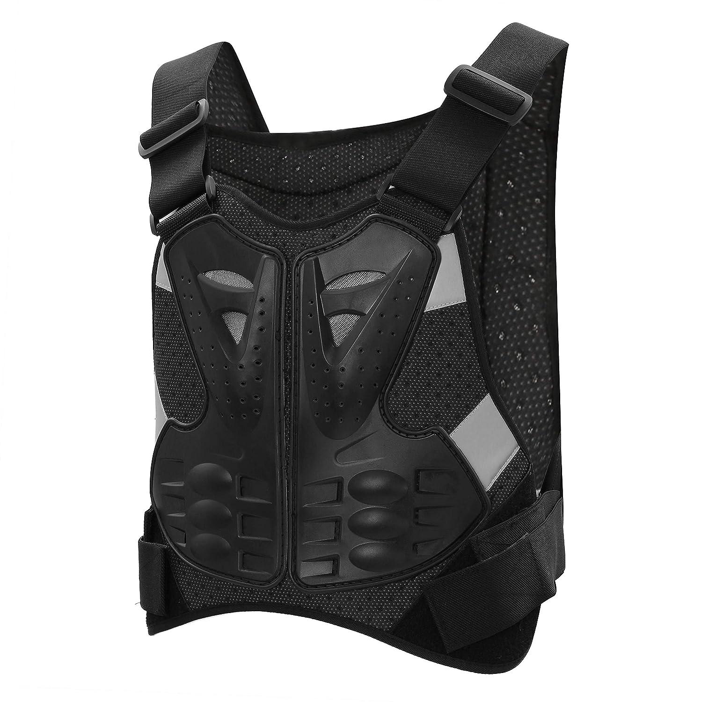 Gilet Protettivo per Moto Protezione del Torace Proteggi la Schiena Gilet di Protezione Sci Giacca Protettiva per Bicicletta Protezione per il Corpo Flessibile e Robusta Suntime NFS-430