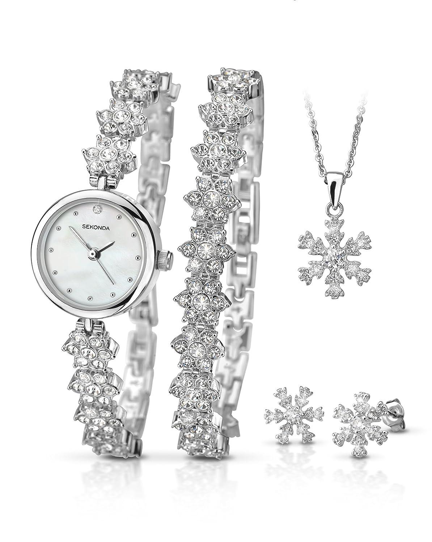 Sekonda 2087G Snowflake Christmas Gift Set Watch, Bracelet ...