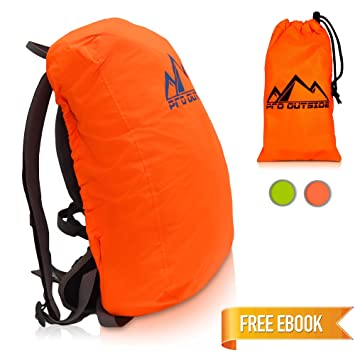 PRO OUTSIDE | Cubierta de mochila y cubierta de lluvia Premium 15 ...
