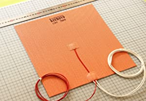 """300 X 300mm (Approx. 12"""" X 12"""") 120V 750W, KEENOVO Universal Flexible Silicone Heater Mat/Pad, 3D Printer Heated Bed Heating Element"""