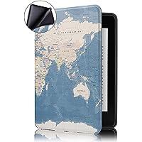 Capa Novo Kindle Paperwhite à Prova D'água WB® Ultra Leve Auto Hibernação Sensor Magnético Silicone Flexível Mapa Mundi