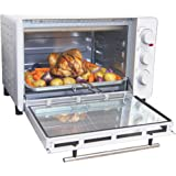 Igenix IG7131 Mini Oven Electric Cooker and Grill, Ideal for Roasting, Baking, Grilling and Reheating with Aluminium Baking Tray, 30 Litre, White