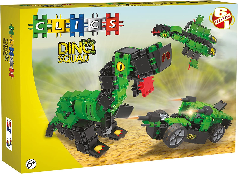 Clics Toys - Dino Caja, 6 Modelos en 1 (BBM NV AB004)