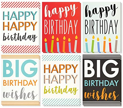 Amazon Large Birthday Cards Box Set