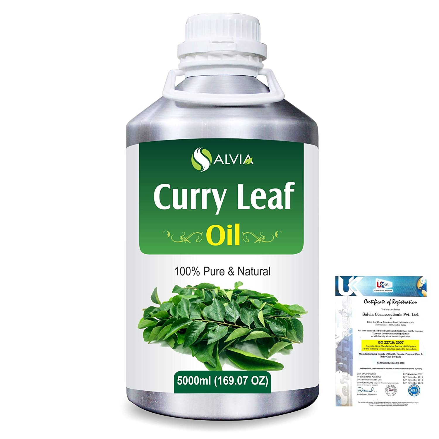 Curry Leaf (Murraya koenigz) 100% Natural Pure Essential Oil 5000ml/169fl.oz. B07R4TBBJF