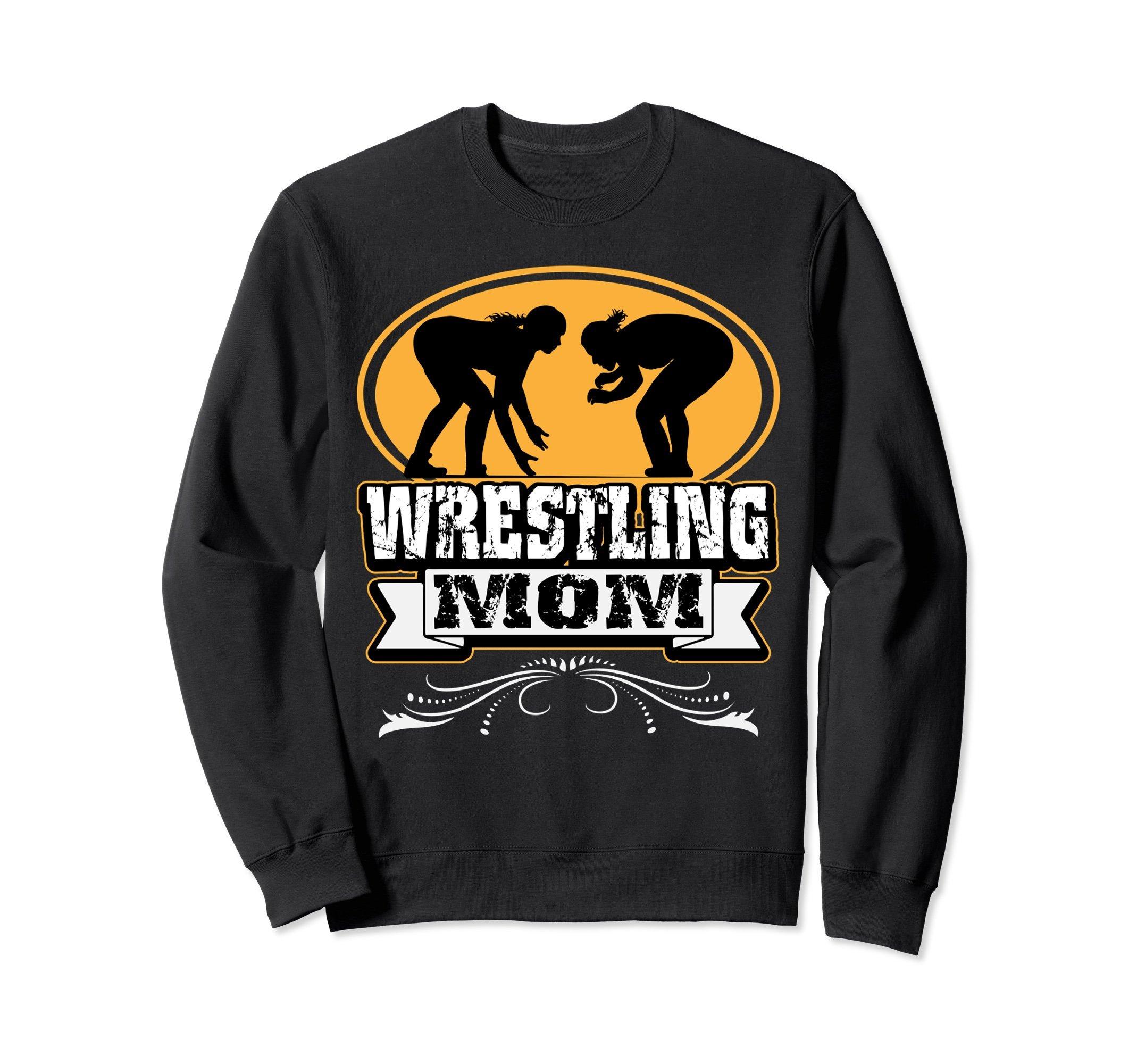 Unisex Wrestling Sweatshirt - Girls Wrestling Mom Sweater Medium Black by Wrestling Sweatshirt by Crush Retro