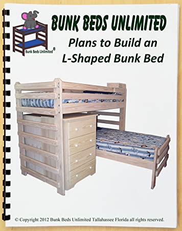 Bunk Bed DIY Woodworking Plan To Build Your Own L Shaped Twin Over Twin