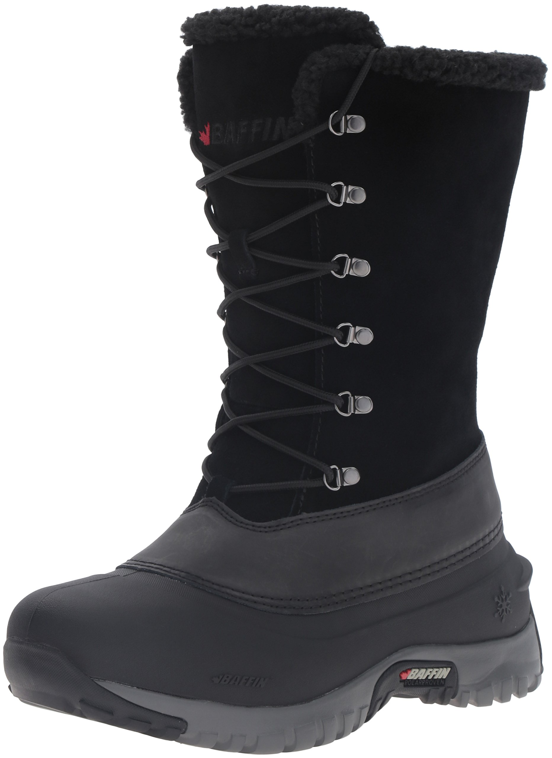 Baffin Women's Hannah Snow Boot, Black, 7 M US