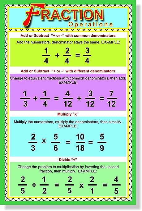 amazon com fraction operations new classroom educational math