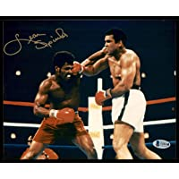 $27 » Leon Spinks Autographed 8x10 Photo vs. Muhammad Ali Beckett BAS #T29191 - Beckett Authentication - Autographed Boxing Photos