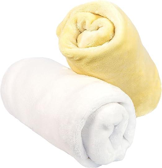 Moon and Stars Microplush Crib Sheets Soft Warm Baby Bedding Setof 2 Pink//White