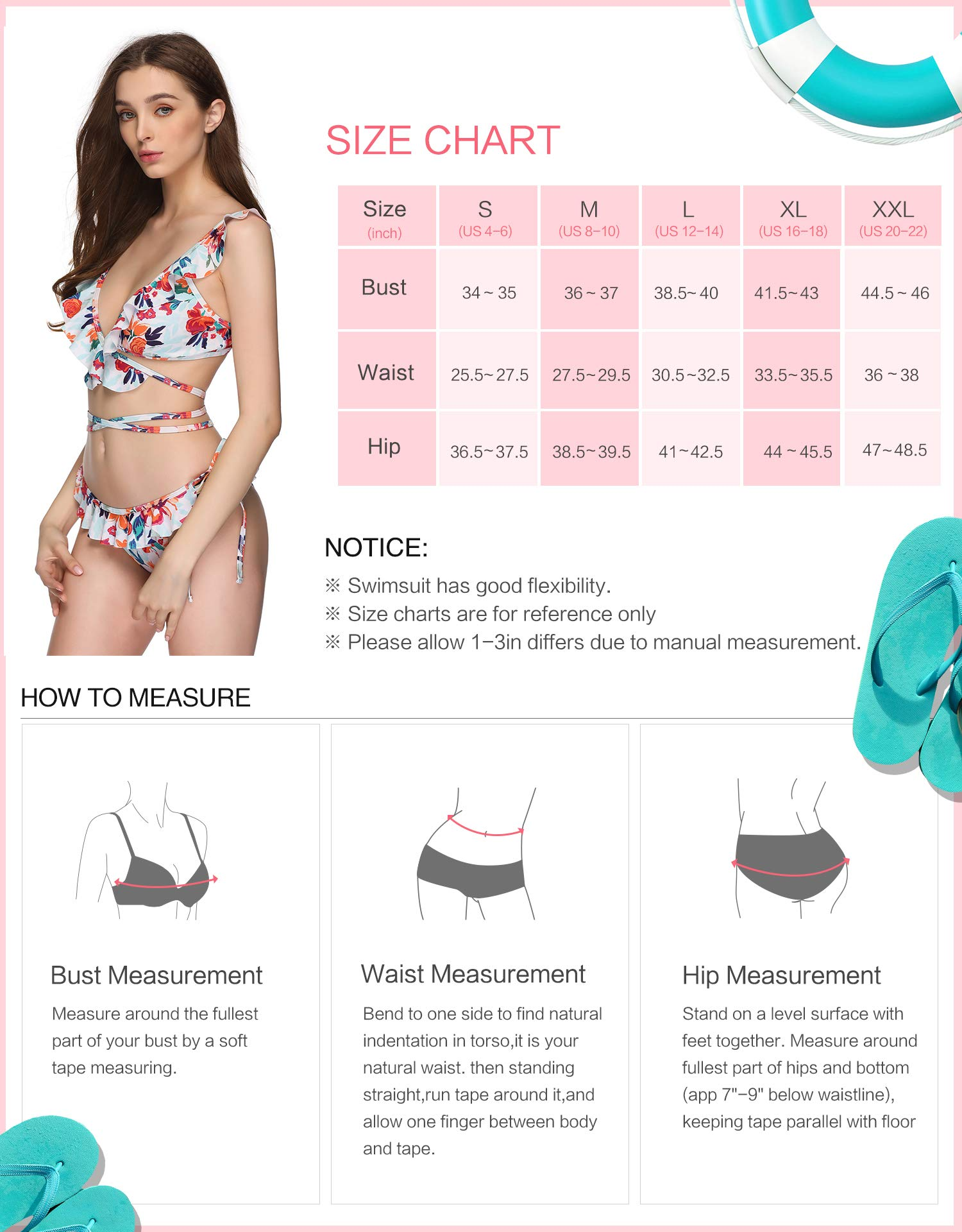 Verano Playa Women Swimsuit Ruffled Flounce Bikini Set Two Piece Criss Cross Strap Bathing Suit Swimwear