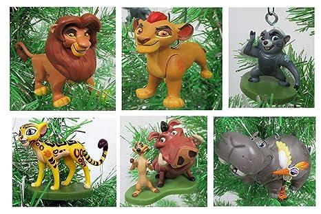 Amazon Com Lion King Lion Guard Christmas Ornament Set