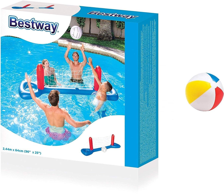 Pool Voleibol - Agua Ball - Balón de voleibol Set Red +: Amazon.es ...