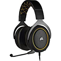 Corsair HS60 PRO Surround Cuffie Gaming con Microfono, Audio 7.1 Surround, Padiglioni Memory Foam, Cancellazione del Rumore Microfono con PC, PS4, Xbox One