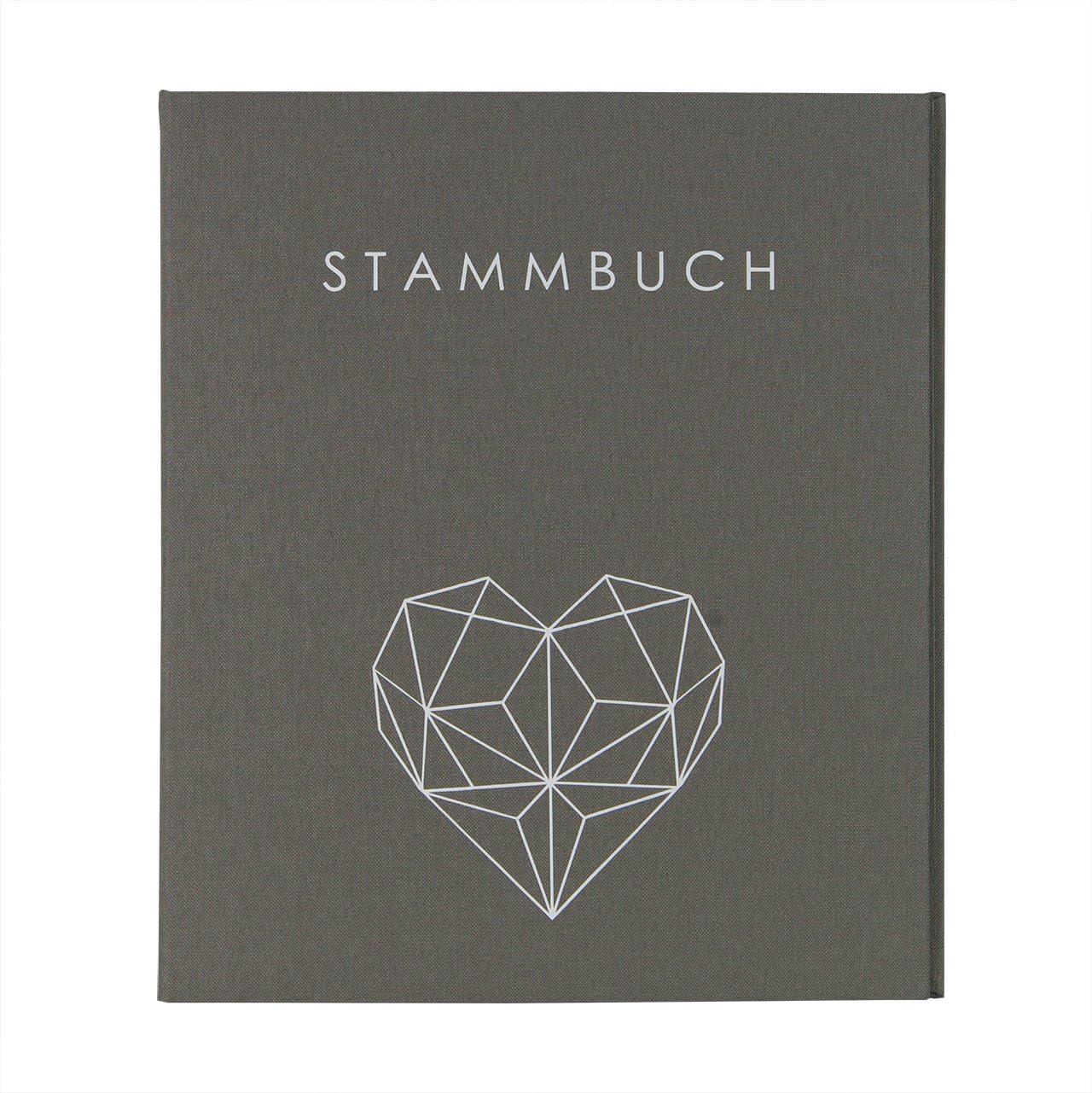 Hochzeitideal - Libro de Familia (DIN A5, Lino), diseño geométrico, Color Gris: Amazon.es: Hogar
