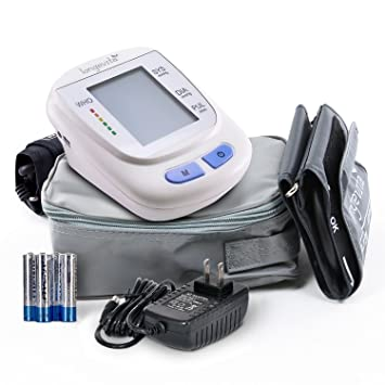 Automatic Portable Digital Upper Arm Blood Pressure Monitor with Pressure Cuff - Longevita BP-103