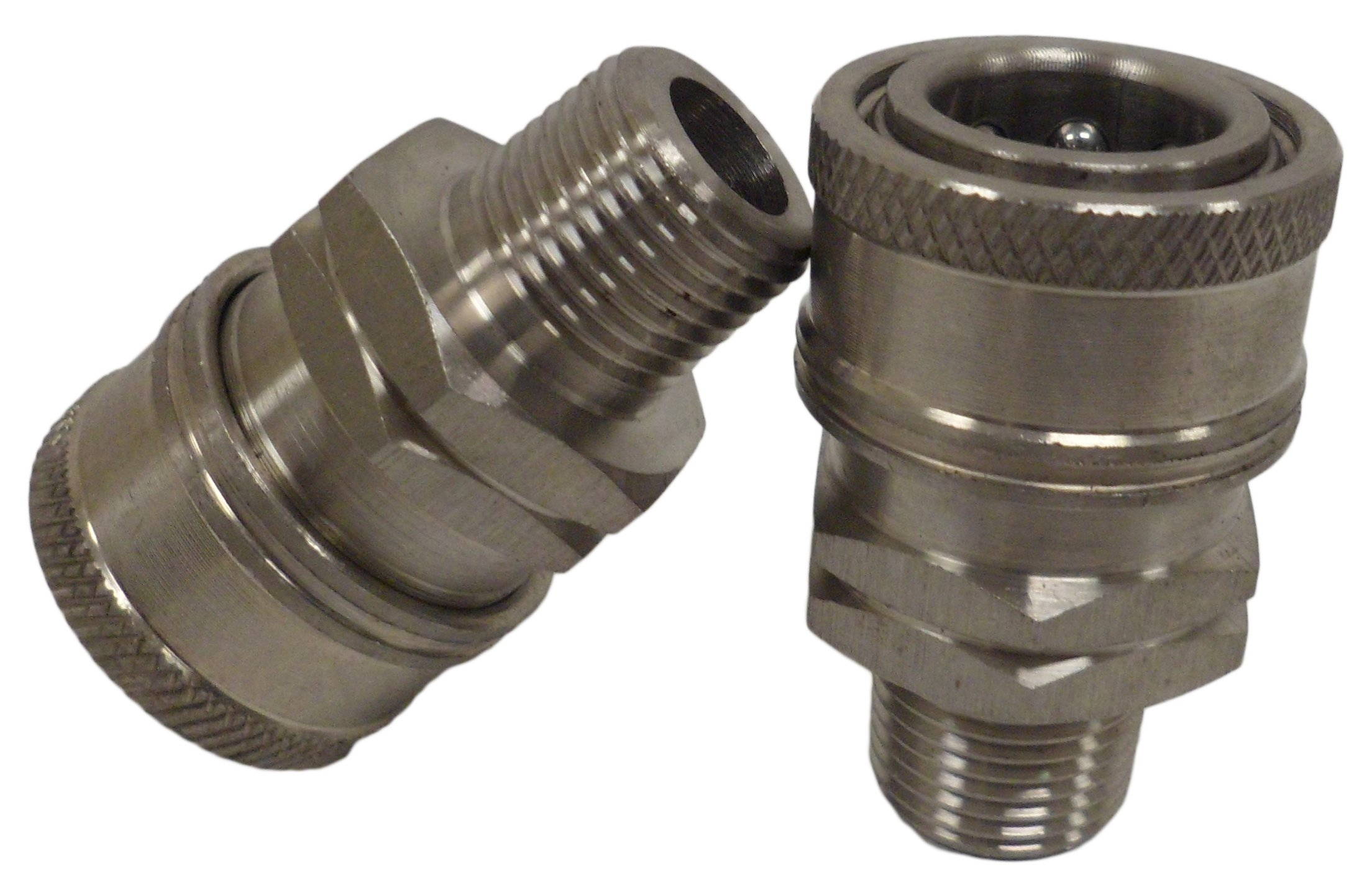 Ultimate Washer Female Coupler, Stainless Steel, 2-Pack (3/8'')