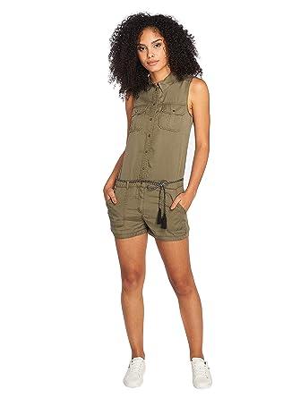 77aacd4de54876 ONLY Damen Overall Jumpsuit onlARIZONA S/L NEW BELT PLAYSUIT PNT kurz khaki  Military (